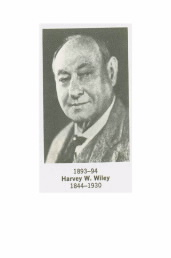 Former ACS President Harvey W. Wiley