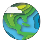 CCEW logo of a cloud, green land, and blue water.