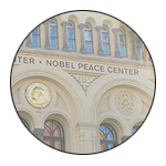 the fascade of the Nobel Peace Center