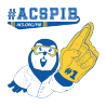 Professor Mole holding up a foam finger. under #ACSPIB