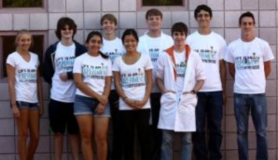 Group of high school students in an ACS Student Chapter