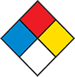 NFPA Diamond (with four colors - blue, red, yellow and white)