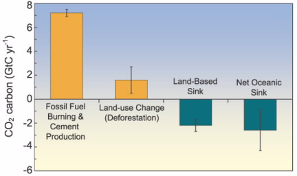 Carbon Dioxide (CO2) sources and sinks