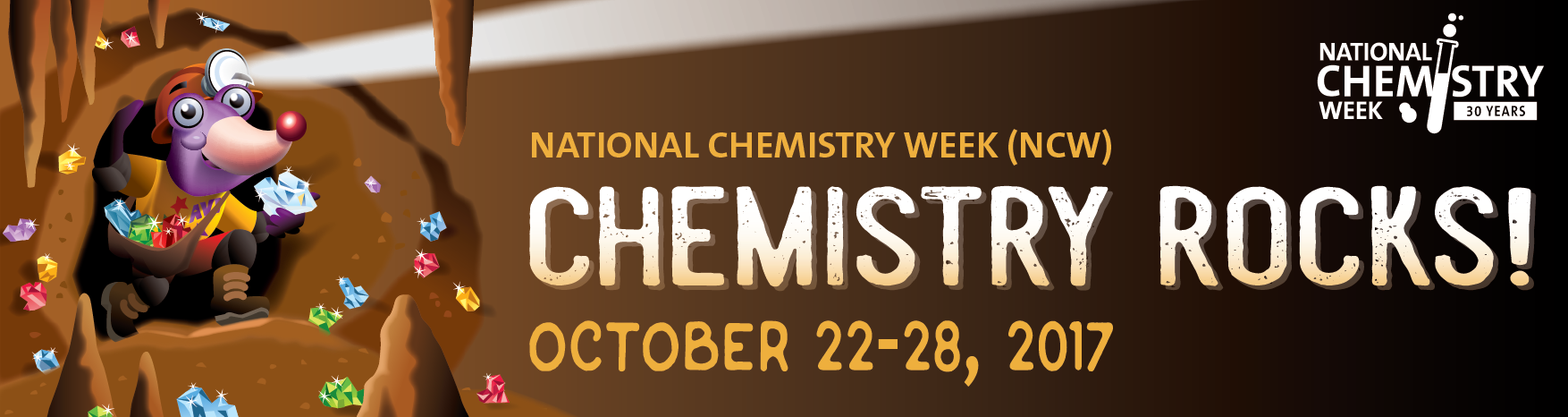 "The National Chemistry Week theme is ""Solving Mysteries Through Chemistry"" celebrated from October 16-22, 2016."