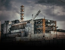 Building ruins in Chernobyl