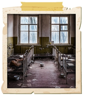chernobyl abandoned beds