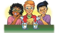 Illustration of students doing a science activity