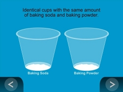 vinegar test: baking soda vs baking powder