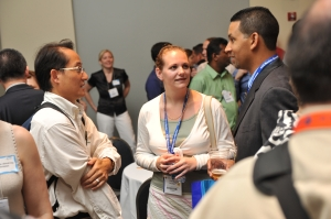 Educators, students, and chemical professionals interacting