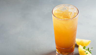Blushing Arnold Palmer mocktail