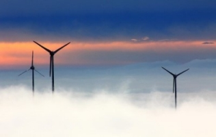 windmills above the clouds