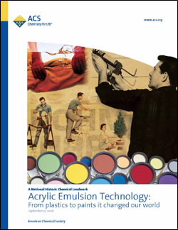 """Acrylic Emulsion Technology: From plastics to paints, it changed our world"" commemorative booklet"