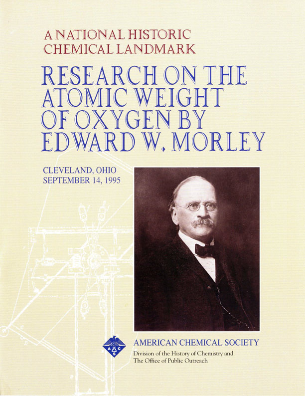 """Research on the Atomic Weight of Oxygen by Edward W. Morley"" commemorative booklet"