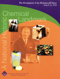 """The Development of the Beckman pH Meter"" commemorative booklet"