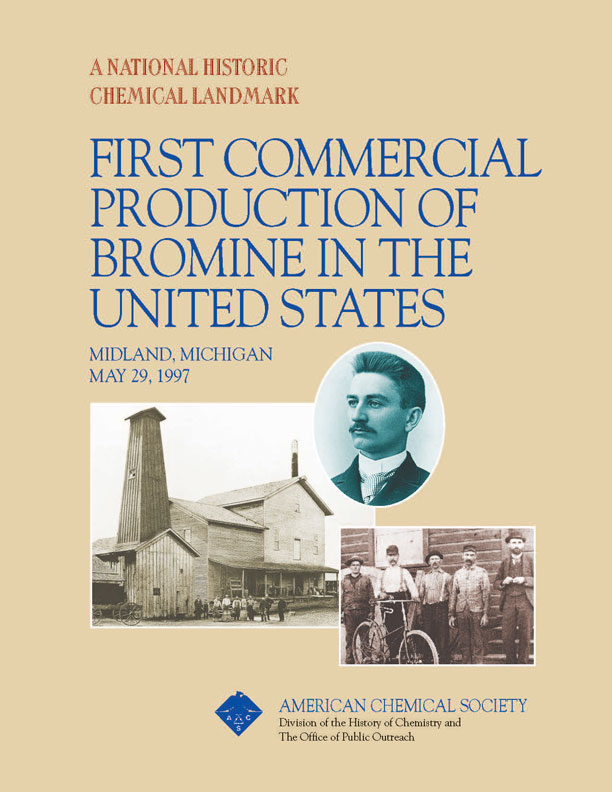 """First Electrolytic Production of Bromine"" commemorative booklet"