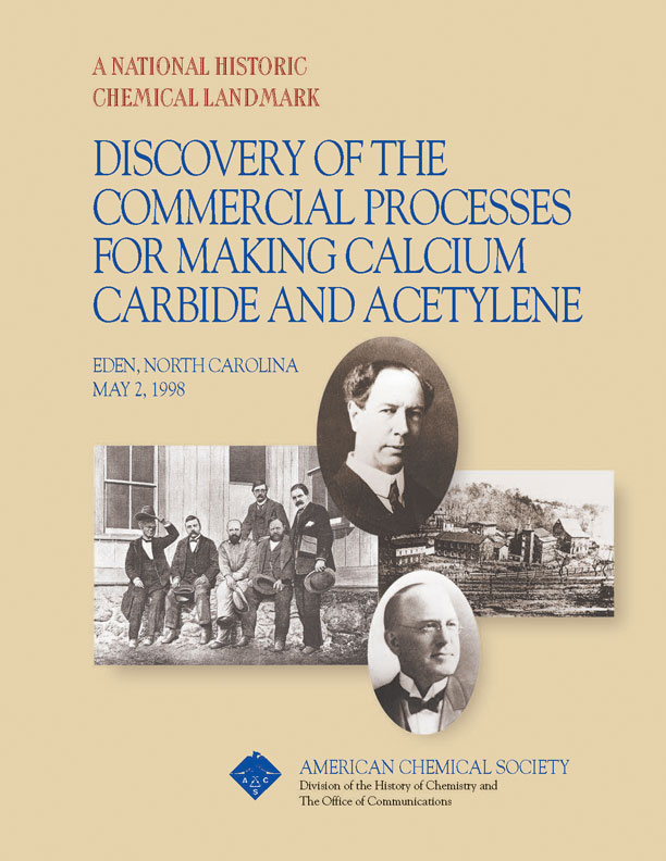 """Discovery of the Commercial Processes for Making Calcium Carbide and Acetylene"" commemorative booklet"