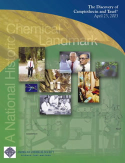 """The Discovery of Camptothecin and Taxol"" commemorative booklet"