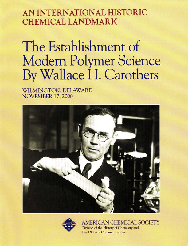 """The Establishment of Modern Polymer Science By Wallace H. Carothers"" commemorative booklet"