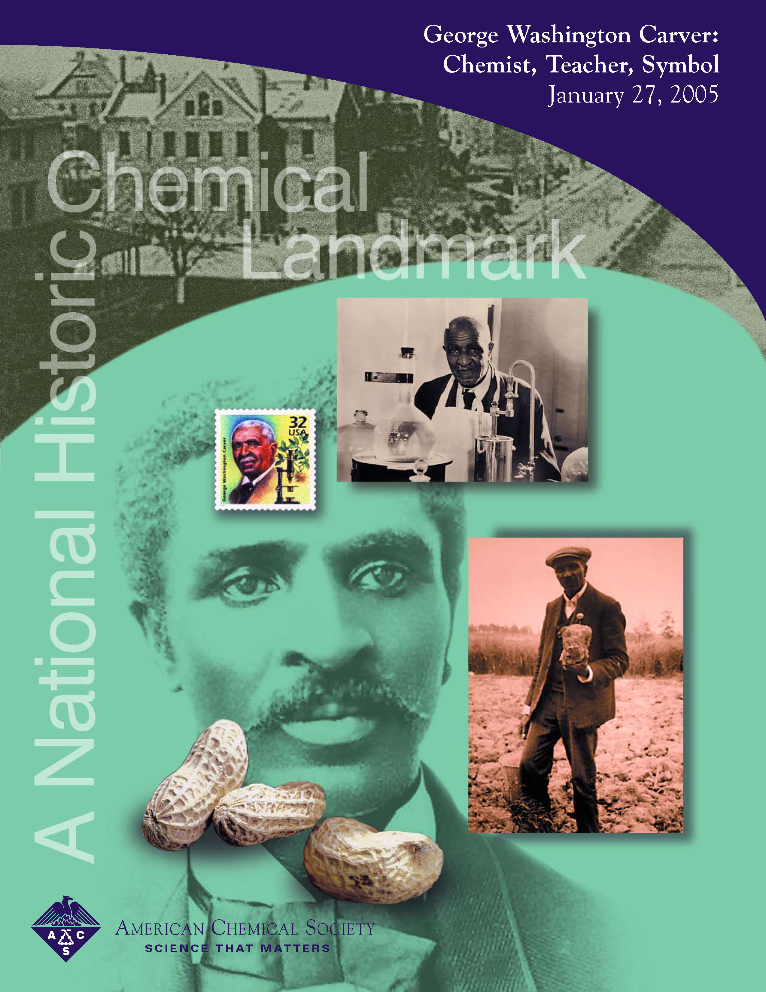 George Washington Carver  American Chemical Society George Washington Carver Chemist Teacher Symbol Commemorative Booklet