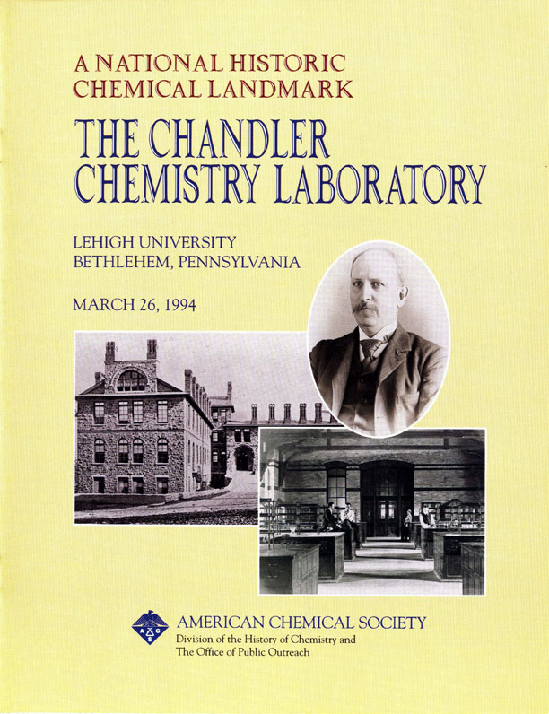 """The Chandler Chemistry Laboratory"" commemorative booklet"