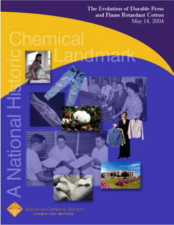 """The Evolution of Durable Press and Flame Retardant Cotton"" commemorative booklet"