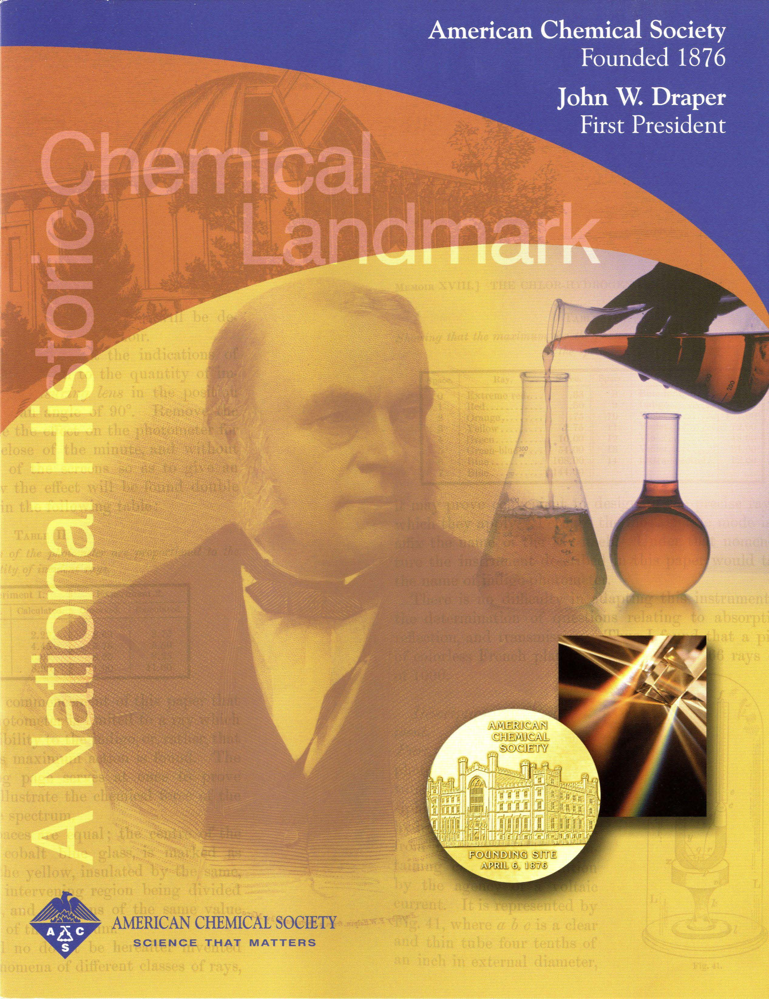 John w draper and the founding of the american chemical society american chemical society founded 1876 john w draper first president commemorative booklet urtaz Choice Image