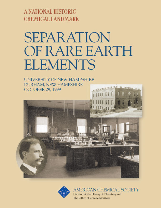 """Separation of Rare Earth Elements"" commemorative booklet"