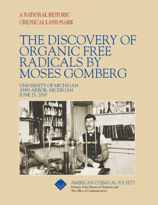 """The Discovery of Organic Free Radicals by Moses Gomberg"" commemorative booklet"