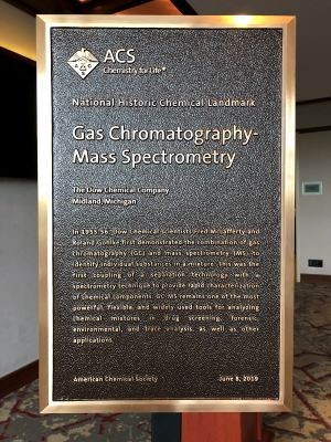 Plaque for the gas chromatography-mass spectrometry Landmark.