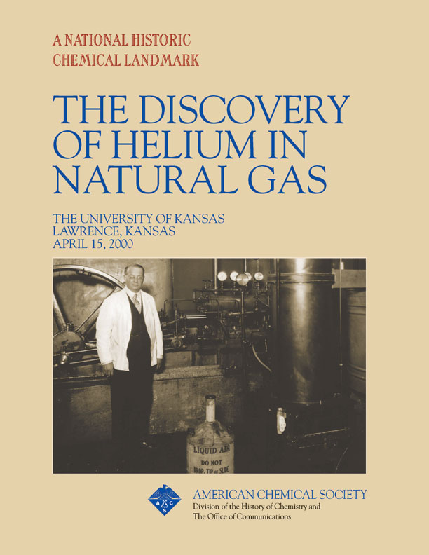 """The Discovery of Helium in Natural Gas"" commemorative booklet"