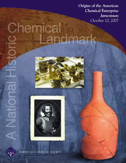 Chemistry at Jamestown Virginia - National Historic Chemical