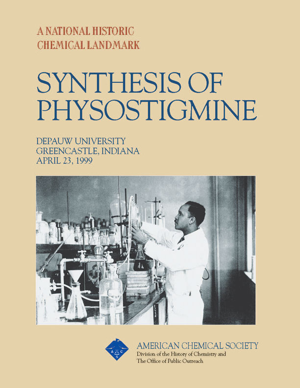 """Synthesis of Physostigmine"" commemorative booklet"
