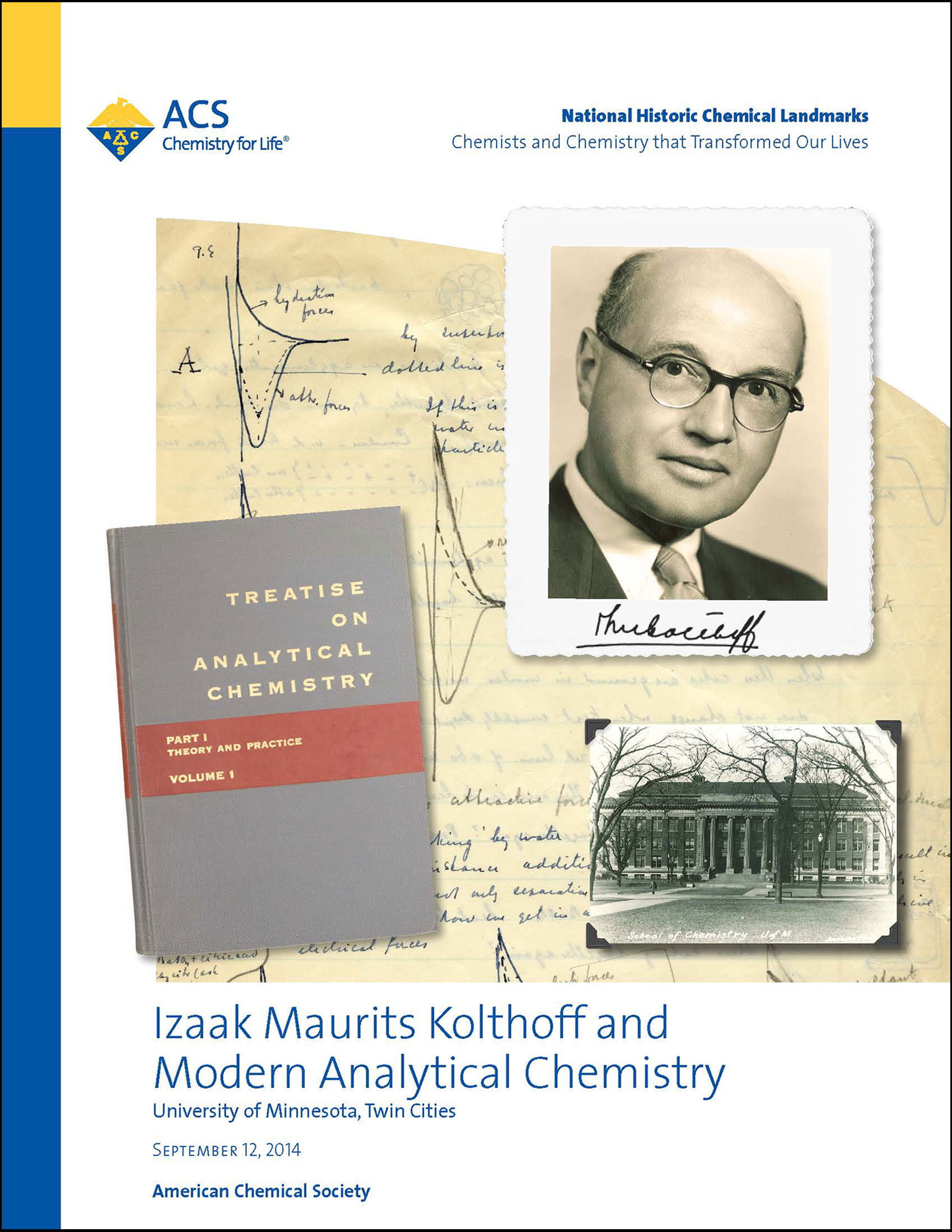 Kolthoff Analytical Chemistry National Historic Chemical Landmark commemorative booklet