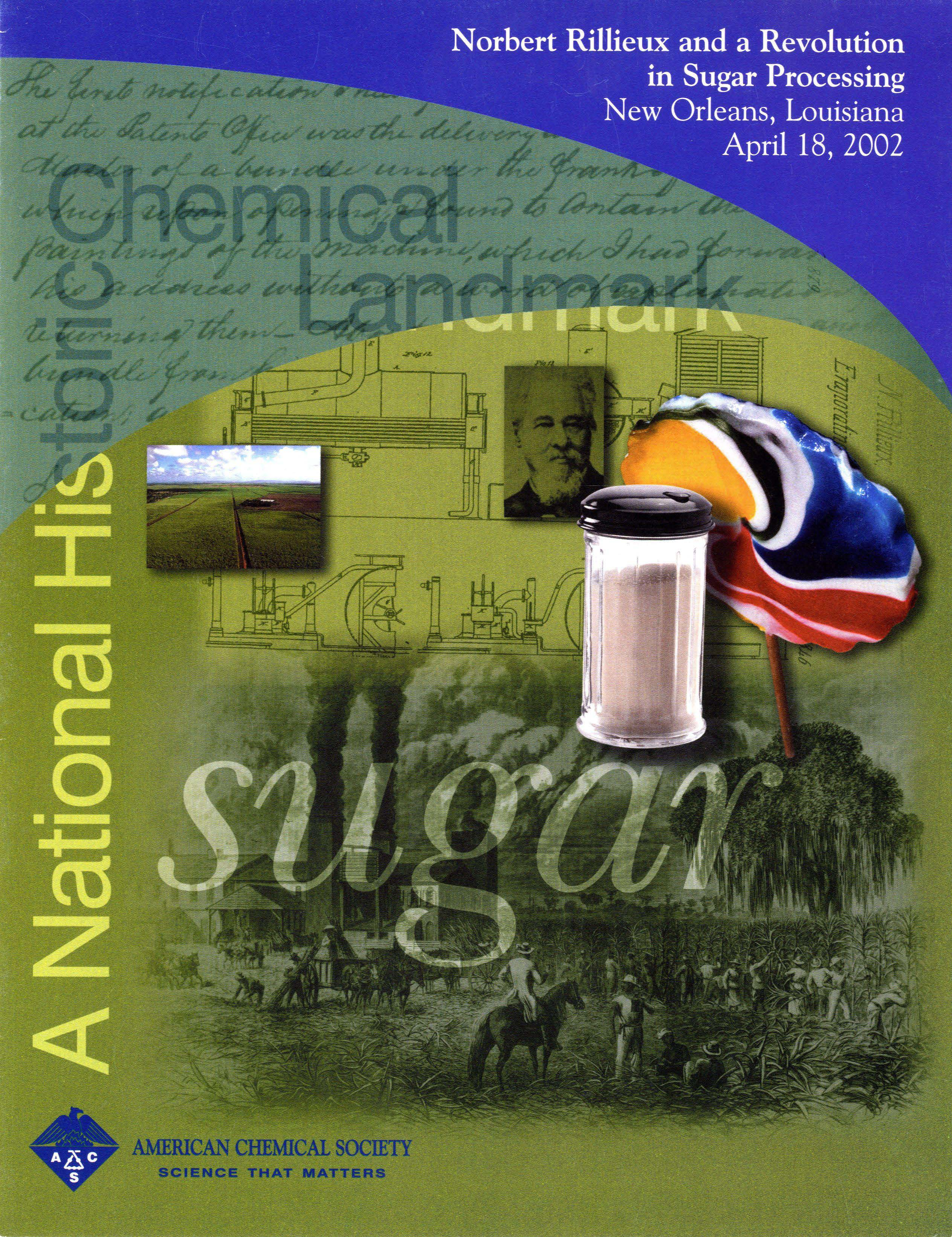 """Norbert Rillieux and a Revolution in Sugar Processing"" commemorative booklet"