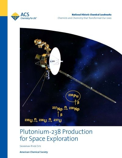 Plutonium-238 Landmark booklet cover with link to pdf of booklet