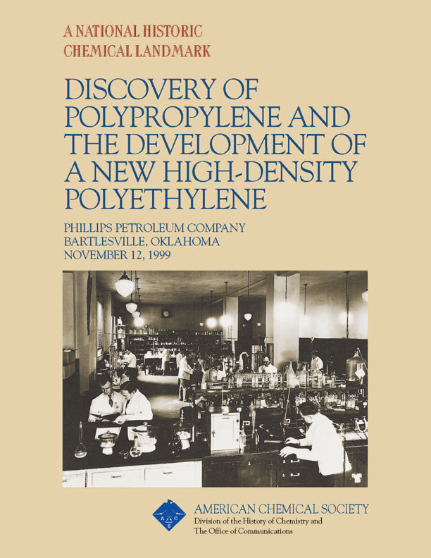 """Discovery of Polypropylene and the Development of a New High-Density Polyethylene"" commemorative booklet"