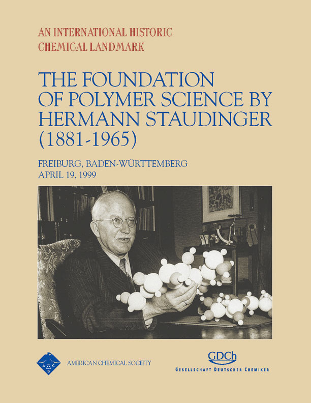 """The Foundation of Polymer Science by Hermann Staudinger (1881-1965)"" commemorative booklet"