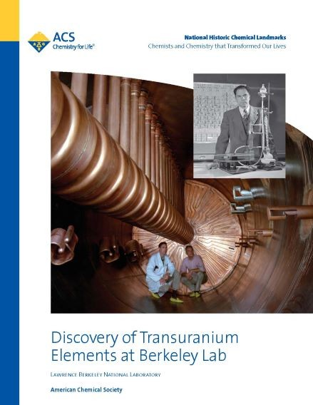 cover of booklet about the discovery of transuranium elements