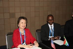 ACS President Marinda Li Wu and SACI President James Darkwa