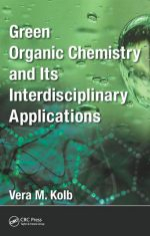 Green background with title Green Organic Chemistry and Its Interdisciplinary Applications