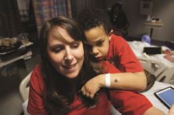Melissa Hogan and her son, Case, who has Hunter syndrome