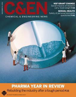 Cover of C&EN magazine Dec 10, 2012 issue