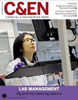cover of C&EN magazine November 12, 2012 issue