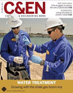 Cover of C&EN magazine Oct 15, 2012 issue