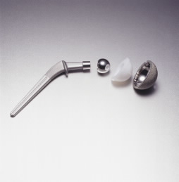 unassembled hip implant