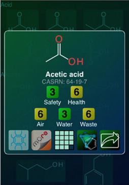 Green Solvents mobile app screenshot