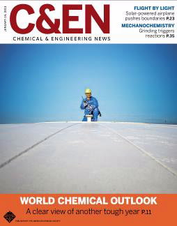 Cover of C&EN magazine January 14, 2013 issue