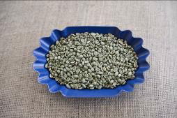 bowl of green coffee beans