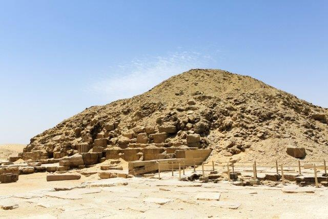 ruins of Egyptian pyramid