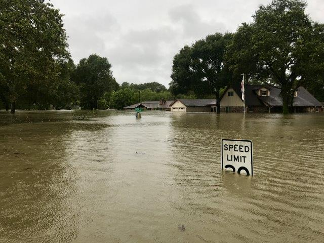 Post-Hurrican Harvey floodwaters